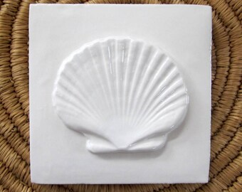 Seashell accent tile Nairobi Blue 2x2 accent tile bathroom