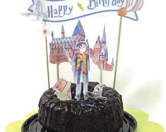 Harry Potter gâteau d'anniversaire, mariage de Harry Potter, Harry Potter bébé, Assistant partie décor, livre amant de gâteau