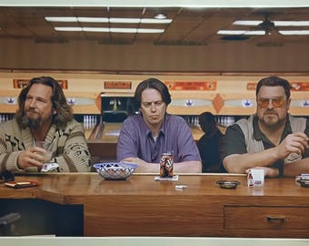 """The Big Lebowski GIANT WIDE 42"""" x 24"""",Poster Print  """"Sometimes the bar eats you"""" Dude Bar Bowling Alley Man Cave"""