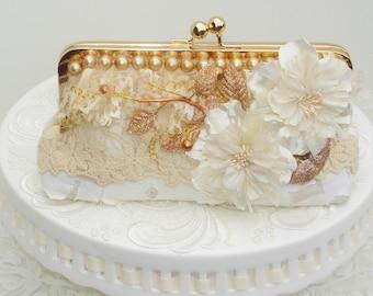 Spring Wedding  / Ivory Wedding Bag / Bridal Clutch / Wedding Handbag