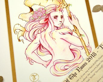 Hope - MarchOfTheFauns 2018 Limited Edition Double Matted Faun Print with Story Scroll