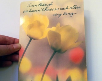 Retro 70s Valentine's Day Card - 'Even though we haven't know each other very long...it feels like I've known you forever!'