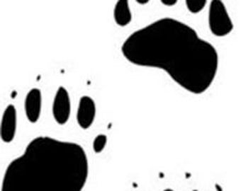 12-count Bear Paw Print vinyl wall decal