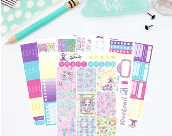 Fairy Sparkles - Deluxe weekly planner sticker kit sized to fit the Erin Condren life planner. Premium Matt