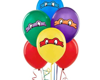 Teenage Mutant Ninja Turtles TMNT Balloon Stickers Decorations Self Adheshive Party Favor Balloon Decals Movie