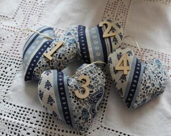 Heart of Provence blue white 11 x 11 cm Lavender