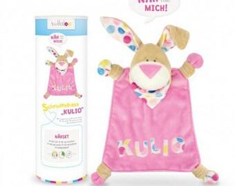 Kullaloo kulio rabbit plushie Kit pink