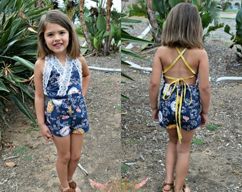 Sunkissed Romper and Dress PDF Sewing Pattern Sizes 2T-14yrs