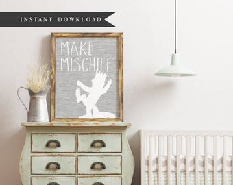 DOWNLOAD: Where the Wild Things Are - Make Mischief / 8 x 10 print