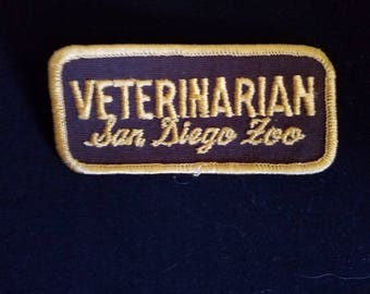 Free Shipping Veterinarian San Diego Zoo Patch