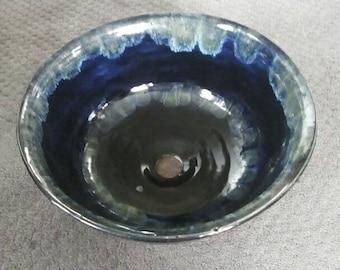 Vessel Sink, Handmade Pottery Vessel Sink, Wheel thrown vessel sink, Handmade Stoneware Basin sink, Bathroom sink,