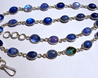 22Inch/115CtsBlue RainbowTrendy jewelry Necklace /Funky jewelry Necklace@DSC06898