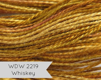 Perle Cotton Weeks Dye Works Hand Over-Dyed Pearl Cotton Floss {Size 8} Whiskey   Hand Quilting, Applique, Embroidery, Needlework