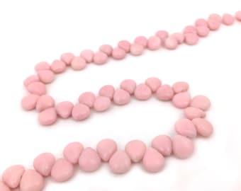 10pc 9x10 Dyed Jade Stone Teardrop Gemstone Bead Light Pink