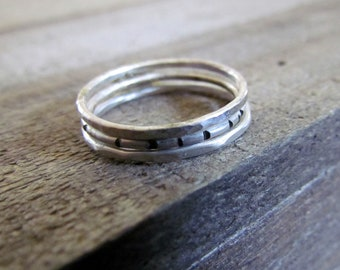 Sterling Silver Stacking Ring .925 Sterling Silver Single Piece