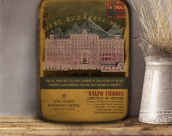 The grand Budapest hotel, Wes Anderson, Wooden plaque