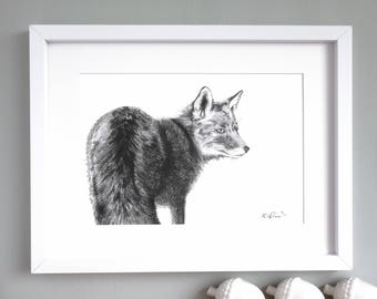 Fine Art Fox Giclée Print 'The Lonesome Number One'