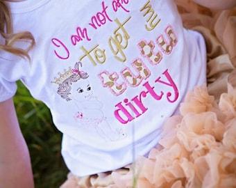 Princess tutu shirt- Girl's Applique shirt- tutu shirt- Girl's Princess shirt- Monogram Shirt- Posh Girl's shirt- Not afraid to get dirty