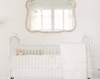 "Mini Crib Baby Bedding:  neutral crib sets, ""Oatmeal & Cream"" cotton luxe collection, Custom Made to Order"