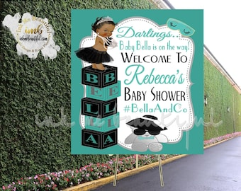 DIGITAL FILE Baby and CO, Bride and Co, Party Hashtag, Babyshower, Bridal Shower, Welcome Sign