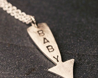 Sterling silver pregnancy necklace for Mom to be