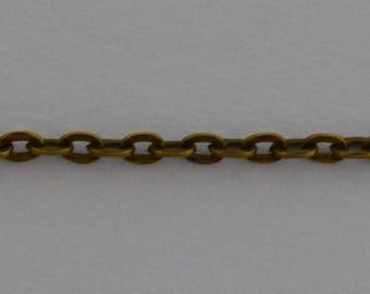 3m Chaîne à maillon 3x2mm couleur bronze antique - Réf: CHB 513