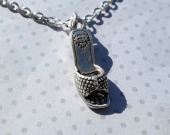 Silver Shoe Charm Necklace Stocking Stuffer Christmas Gift Friendship Gift Dainty