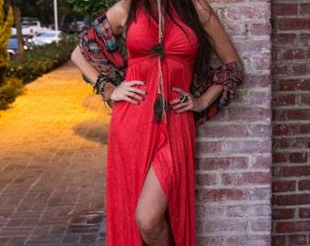 Boho Dress, Gypsy Dress, Convertible Wrap Dress,  Bohemian Dress, Bohemian Dress, Beach Hippie Dress, Coachella Dress