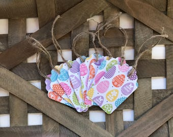 Easter paper tags easter favor tags easter package tags