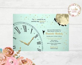 Peter Pan, Neverland Baby Shower Invitation