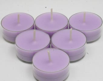 Lavender Spa Handmade Premium Quality Highly Scented 6 Tea Light Candles