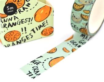 Washi tape orange fruit