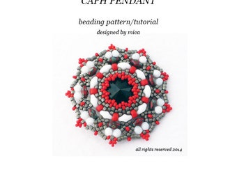 Caph Pendant - Beading Pattern/Tutorial - PDF file for personal use only