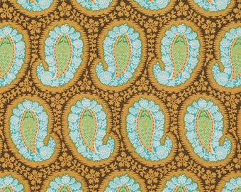Clearance Sale Amy Butler  STASH BELLE Fabric Collection 1 Yard HENNA Paisley In Blue, Westminster Fibers