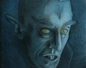 Nosferatu - painting painting - original