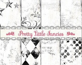 Digital Black and White Grungy Digital Paper Distressed Digital Paper Vintage Paper Digital Backgrounds