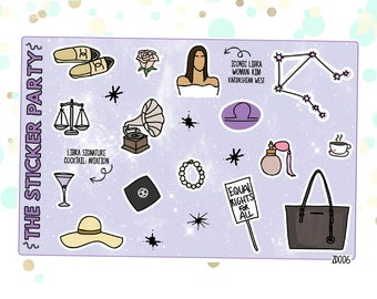 LIBRA'S Favorite Things   Zodiac Libra Planner Stickers
