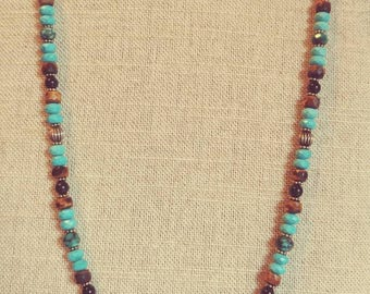 Tigereye and Howlite Necklace