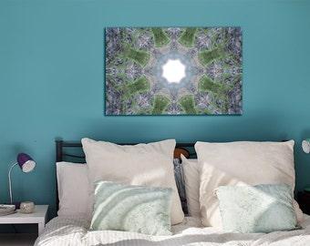 "Inspirational Mandala art ~ Rectangle Canvas Print 30x20"" (75x50cm) ~ Modern Home Wall Decor ~ Home Accessories ~ Nature Photography"