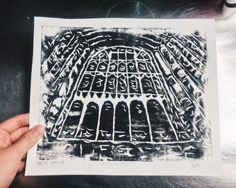St Pauls Cathedral Window Woodcut