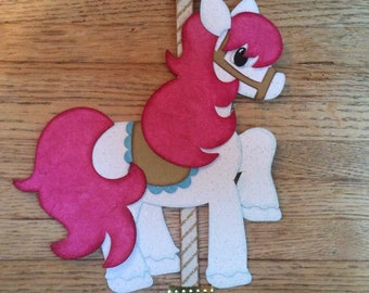 Carousel Horse paper piecing scrapbook embellishment