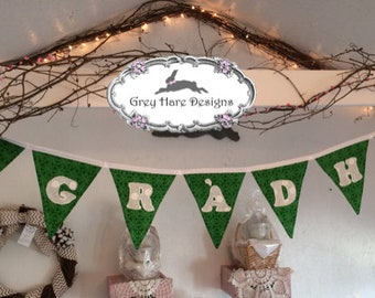 "Bunting ""GRADH"" Scottish Gaelic ""Love"" Fabric Bunting"
