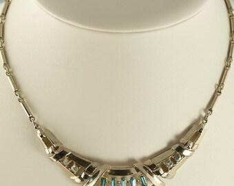 SALE--Retro Rhinestone Costume Necklace