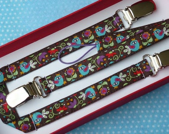 "Gift box clip pacifier and clip blanket ""The bird King"" original this woven Ribbon"