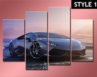 Lamborghini Huracan super sports car canvas