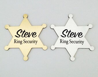 Ring Security, Ring Bearer Gift, Ring Bearer Security Badge, Personalized Ring Bearer Badge, Wedding Gift, Groomsmen Gifts, 3 Designs