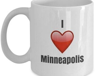 I Love Minneapolis, Minneapolis Mug, Minneapolis Coffee Mug, Minneapolis Gifts, Minneapolis Lover Gift, Funny Coffee mug