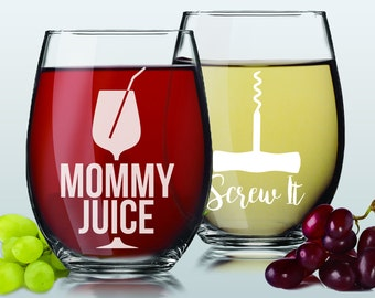 Funny Wine Glass - Gift For Mother - Wine Glasses Funny - Wine Gifts For Women - Mom Gifts From Daughter - Funny Wine Sayings - Gift For Her