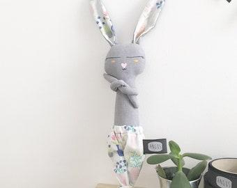 Unique hand painted Bunny 25cm to help sleep fabrics