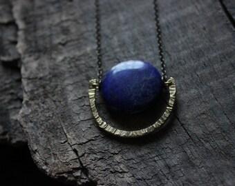 lapis lazuli necklace gold,lapis necklace,lapis lazuli pendant,half moon necklace,long bohemian necklace,egyptian necklace,egyptian jewelry